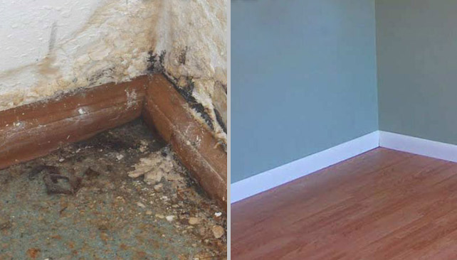 Home Water Damage Before & After