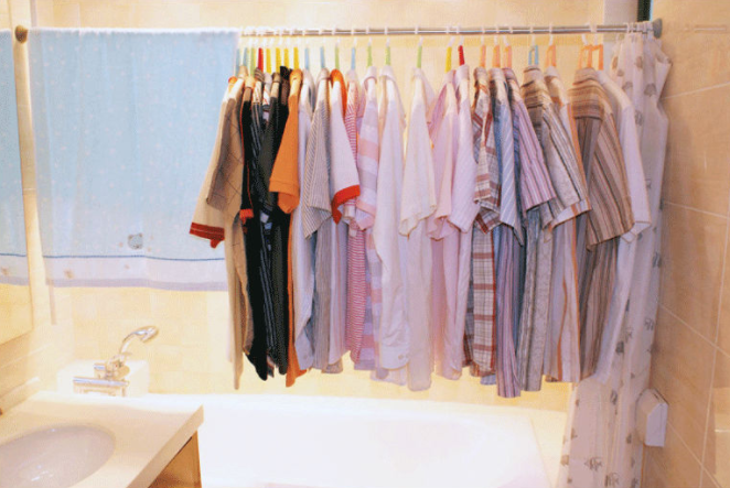 Wet Clothes Hanging Up